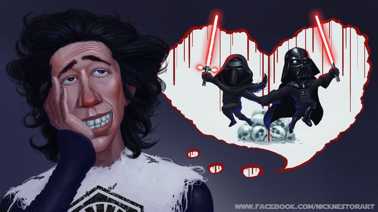 Kylo Ren Daydreaming by Nestoronfire