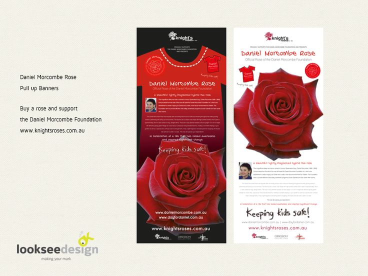 Daniel Morcombe Rose Promotional Banners - Designed by Looksee Design