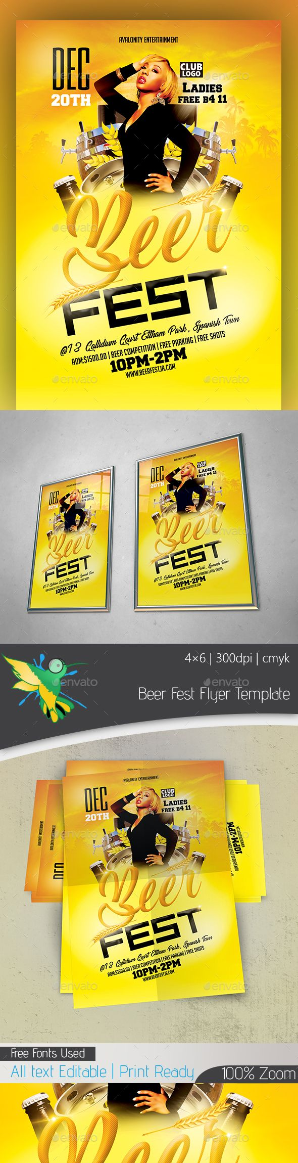 #Beer #Fest #Flyer Template - Clubs & Parties Events