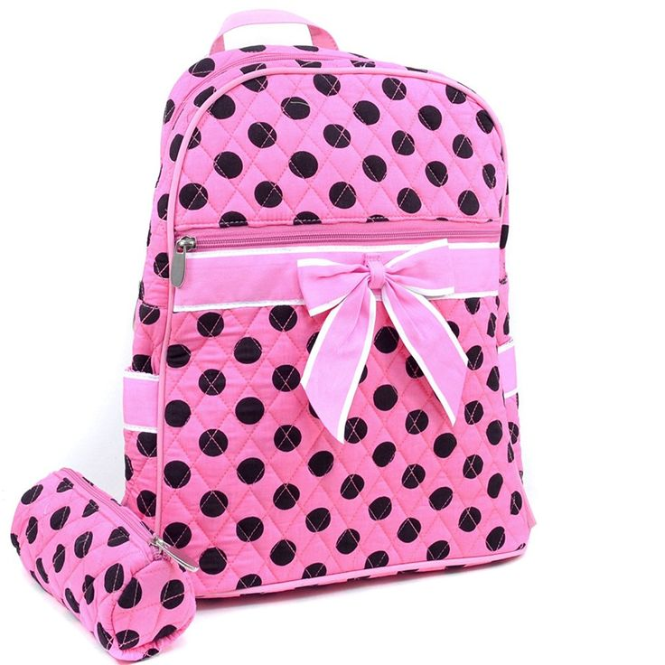 Quilted Polka Dot Backpack w/ Convertible Shoulder Straps *** Additional details at the pin image, click it  : Christmas Luggage and Travel Gear