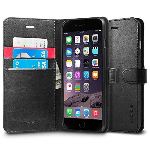 iPhone 6 Plus ケース, Spigen? [ スタンド機能 ] ウォレット S レザー 手帳型 ケース Apple iPhone (5.5) アイフォン 6 プラス カバー