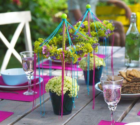 Eine tolle #Tischdeko-Idee für den Garten im Sommer!