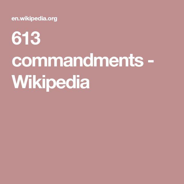 613 commandments - Wikipedia