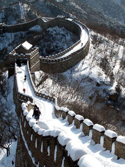 Gran muralla china en invierno