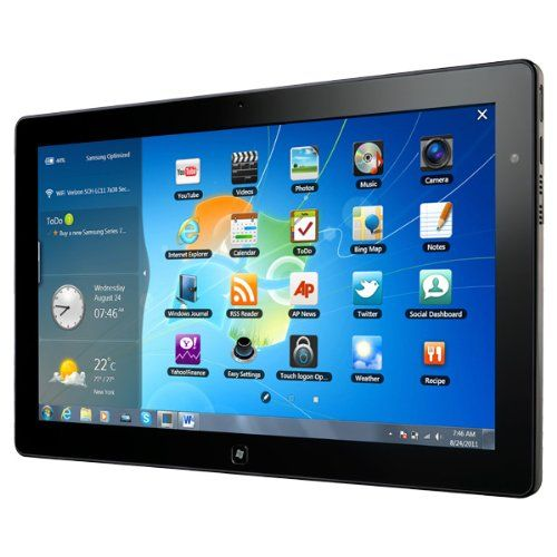 """Samsung XE700T1A-A06US Series 7 Slate Tablet PC - Intel Core i5-2467M 1.6GHz, 4GB DDR3, 128GB SSD, 11.6"""" 10-Finger Sensing Touch Screen, Windows 7 Professional 64-bit, Black. Intel Core i5 Processor 2467M 1.6GHz. 4 GB DDR3 SO-DIMM RAM. 128 GB SSD (mSATA) Hard Drive. 11.6-Inch Superbright Plus Display; Intel HD 3000 Graphics"""" 10. Windows 7 Professional 64-bit, 7 Hours of Battery Life."""