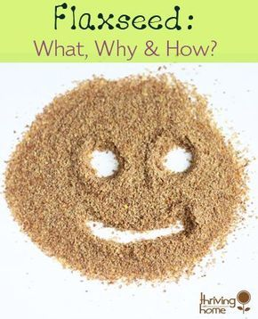 Great explanation of why we should use ground flax seed in our cooking.  Also some great tips and recipes that use flaxseed.