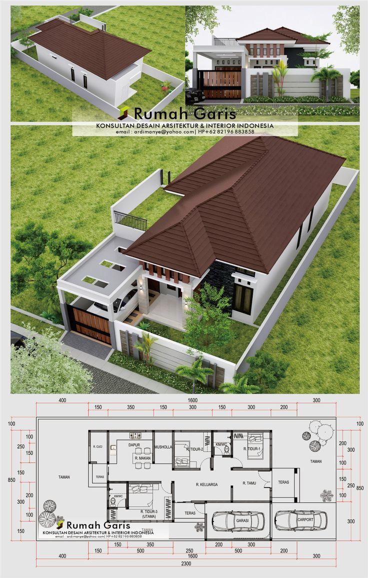 Desain Rumah Minimalis 9x23 Tipe 100 Minimalis 3 Kamar Tidur Ada Rooftop Biaya 300 Jt Di 2021 Denah Rumah Pedesaan Desain Rumah Rumah