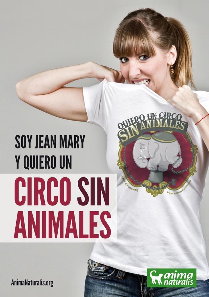 La chispa de la inigualable venezolana, Jean Mary, forma parte de la campaña Circo Sin Animales  http://www.animanaturalis.org/d/533
