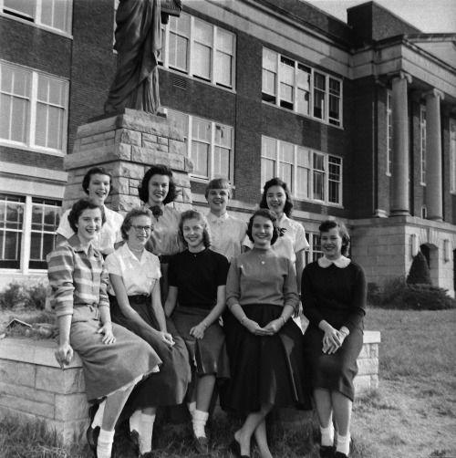 Parsons Junior College, Parsons, Kansas, 1957.