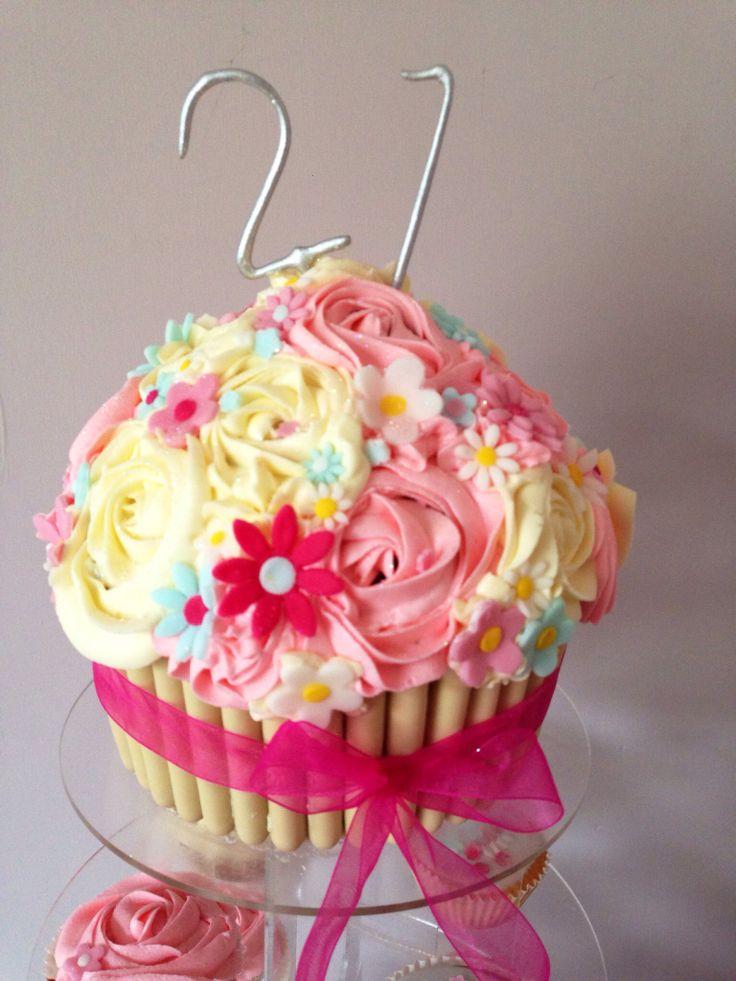 21st birthday giant cupcake