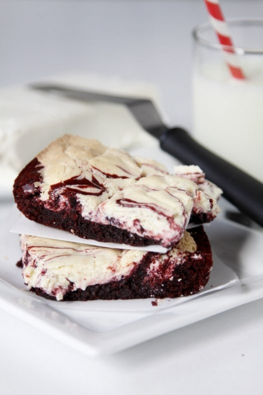 Christmas Cream Cheese Brownies | oh, the great holidays | Pinterest