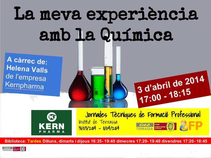 Xerrada d'Helena Valls, química analítica a l'empresa Kernpharma, sobre la seva experiència en aquest camp
