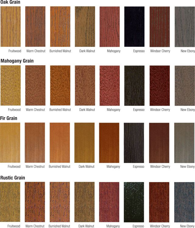Fiberglass Door Stain Color Chart Google Search For