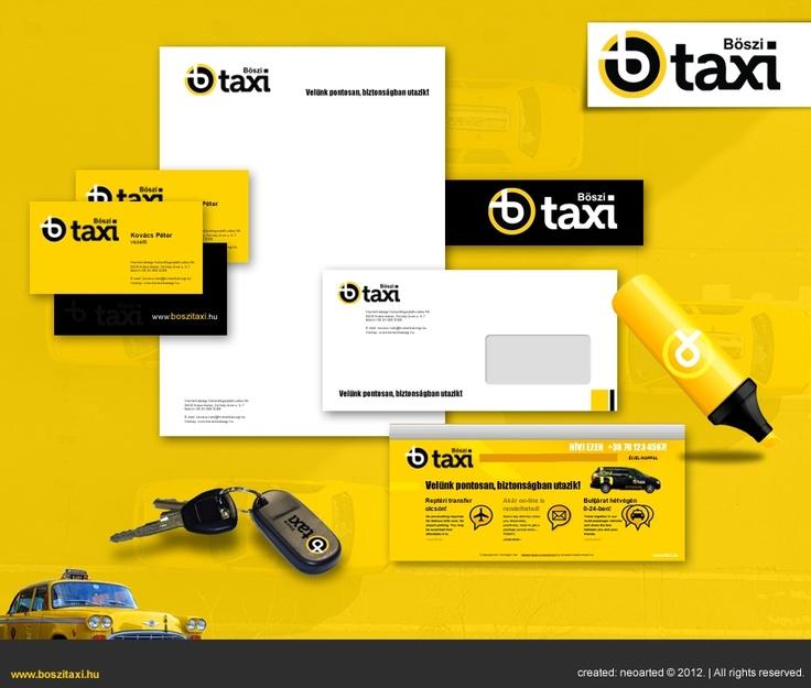Böszi Taxi corporate identity