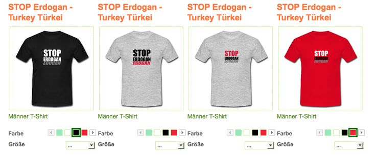 STOP Erdogan - Turkey Türkei T-Shirt  Klassisch geschnittenes T-Shirt für Männer, 100% Baumwolle, Stoffdichte: 185g/m². Marke: B&C  http://bembeltown.spreadshirt.de/stop-erdogan-turkey-…/…/231  Details STOP Erdogan - Turkey Fight against the Turkish Dictator Regime - Erdogan cencors Facebook, Twitter, Youtube and News - Read more: https://www.rt.com/…/335031-turkish-journalist-sentenced-e…/ ‪#‎Erdogan‬ ‪#‎Turkey‬ ‪#‎Türkei‬ ‪#‎Diktator‬ ‪#‎MilitaryCoup‬ ‪#‎Militärputsch‬ ‪#‎StopErdogan‬
