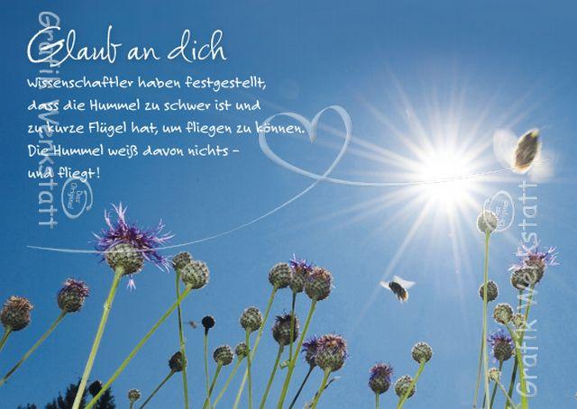 Glaub an Dich - Postkarten - Grafik Werkstatt Bielefeld