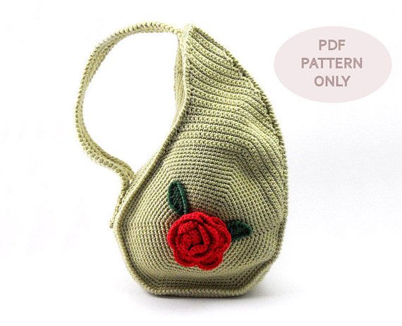 PDF Crochet PATTERN  Unique Teardrop Shape Bag por AimarroPatterns