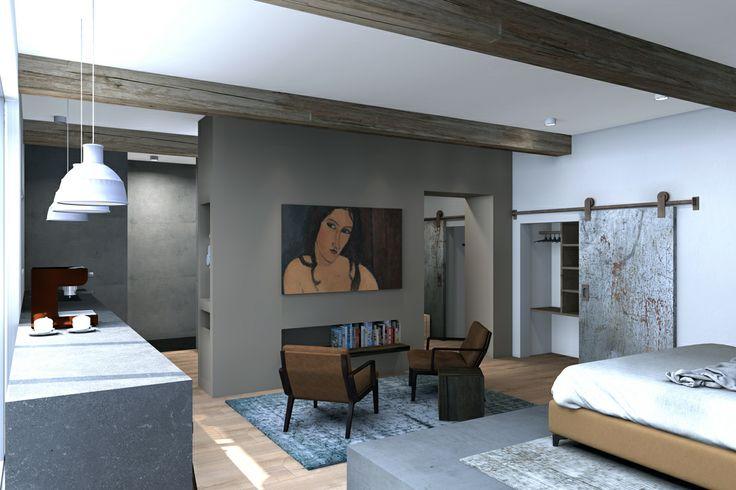 3d rendering, interior, B&B, by Vormkracht 9