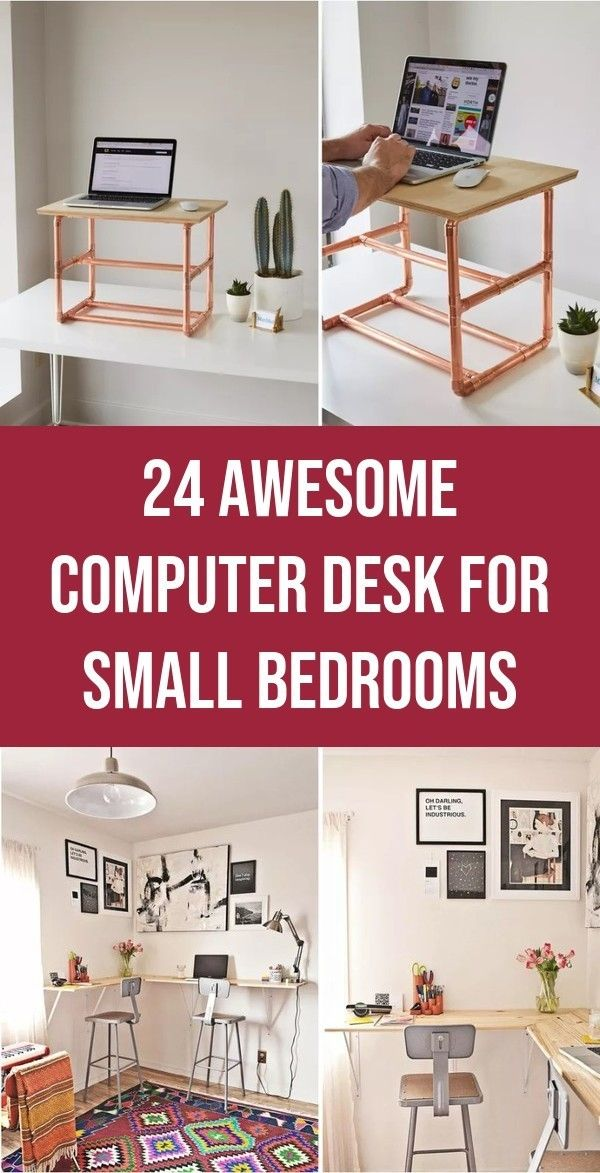 Best computer desk designs for small bedrooms Window 24 awesome