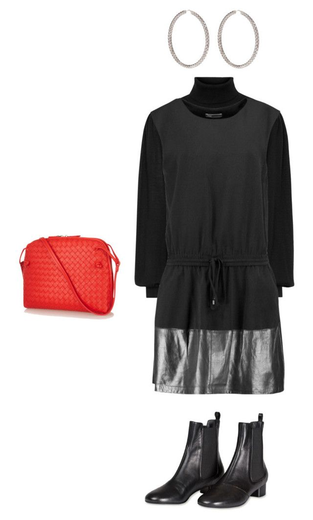 """Black"" by kirsti-salonen on Polyvore featuring Vince and Bottega Veneta"