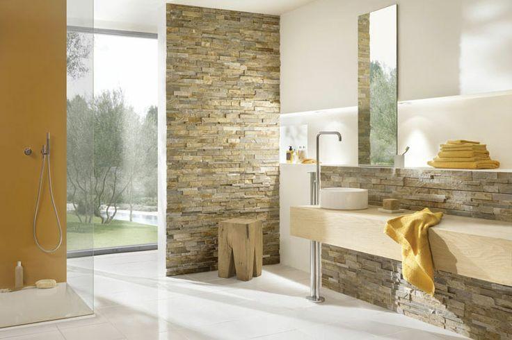 Badkamer Met Steenstrips : Steenstrips voor badkamer: stone panels steenstrips bakker tegels