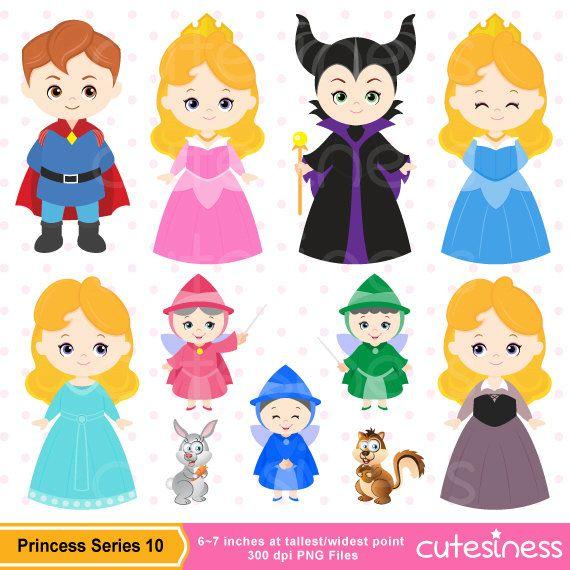 Princess Digital Clipart Princess Clipart Princess by Cutesiness