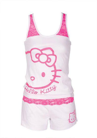 Hello Kitty Lace Set/ para mis noches de pasion jajajaja
