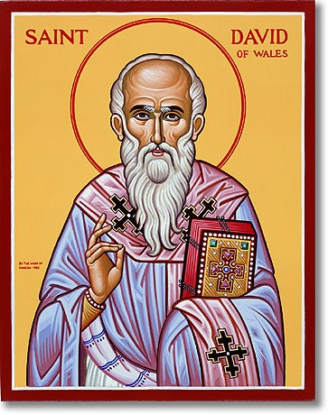 St. David of Wales: Patron of Wales - Raised in company of saints - Becoming church's heart.
