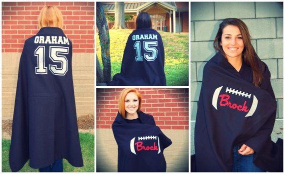 Fleece Stadium Blanket Custom Made / Personalized Football cheerleading baseball…