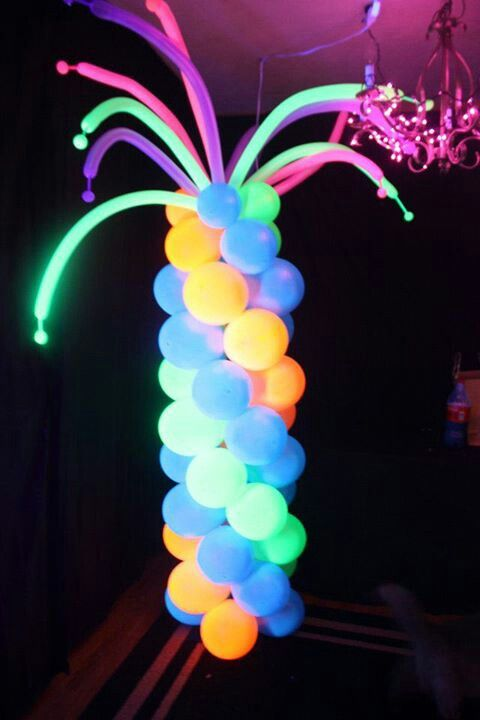 Blacklight party by Balloons by Loons