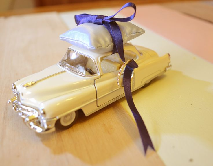 Classic car CADILLAC ringpillow キャデラック・クーペ/プルバック式リングピロー weddding