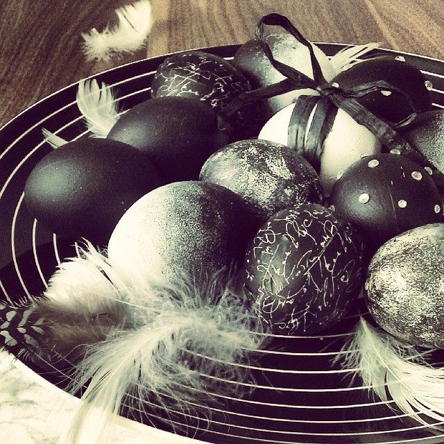#easter accent na blogu :) #eastereggs #egs #onthetable #blackandwhite #diy