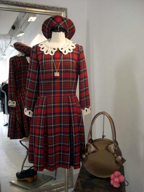 Jane Marple AW12 Tartan dress