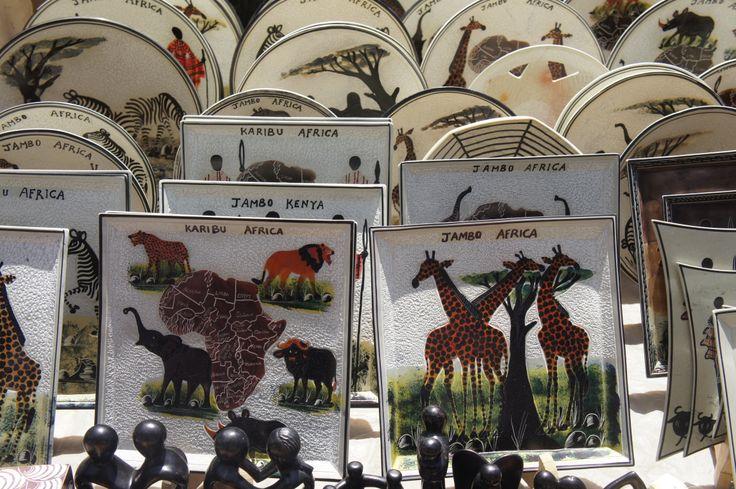 Lovely little 'Karibu' plates, Maasai Market, Nairobi