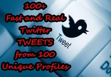 Do you need some Real Twitter Tweets..I will give you 100+ Twitter Tweets from 100 different and unique profiles ..Or you just want to build up your Twets count? want Increase your social signals? or skyrocket your SEO and SERP.Twitter Tweets I, Favorite Places, Twet Counting, Real Twitter, Unique Profile, Social Signals, Random Stuff, Worth, 100 Twitter