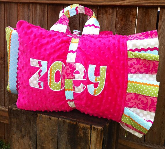 Applique Nap Mat cover with attached Minky Blanket \u0026 Ruffle Pillow Case for the Kindermat & 65 best NAP MATS images on Pinterest | Nap mat covers Sewing ... pillowsntoast.com