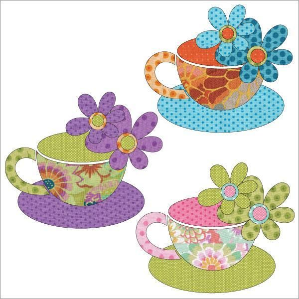 projects idea unique tea cups. Applique Add On s  Tea Cups by urbanelementz Craftsy 65 best Quilts Quilting Coffee images on Pinterest