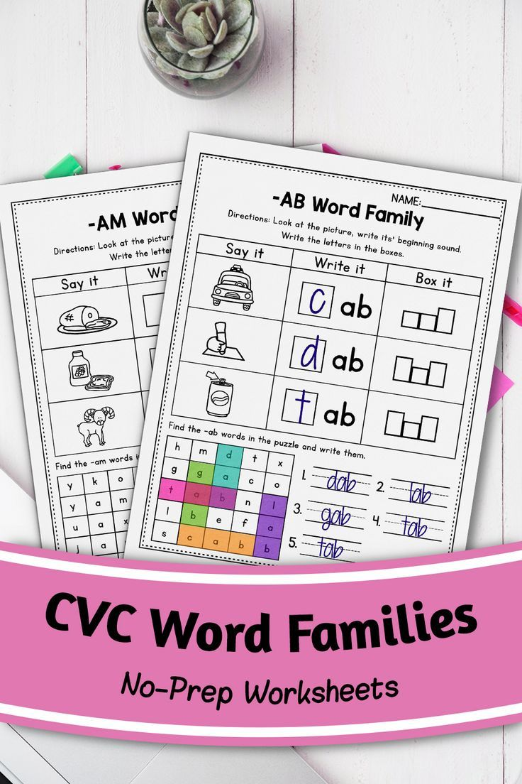 Cvc Words Worksheets All Vowels Cvc Word Families Worksheets Kindergarten Cvc Words Cvc Word Families Cvc Words Worksheets [ 1104 x 736 Pixel ]