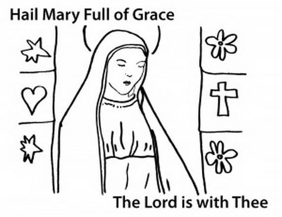 The Assumption Of Blessed Virgin Mary Glorious Mysteries Of The Rosary Coloring Pages Family Holida Coloring Pages For Kids Coloring Pages Assumption Of Mary
