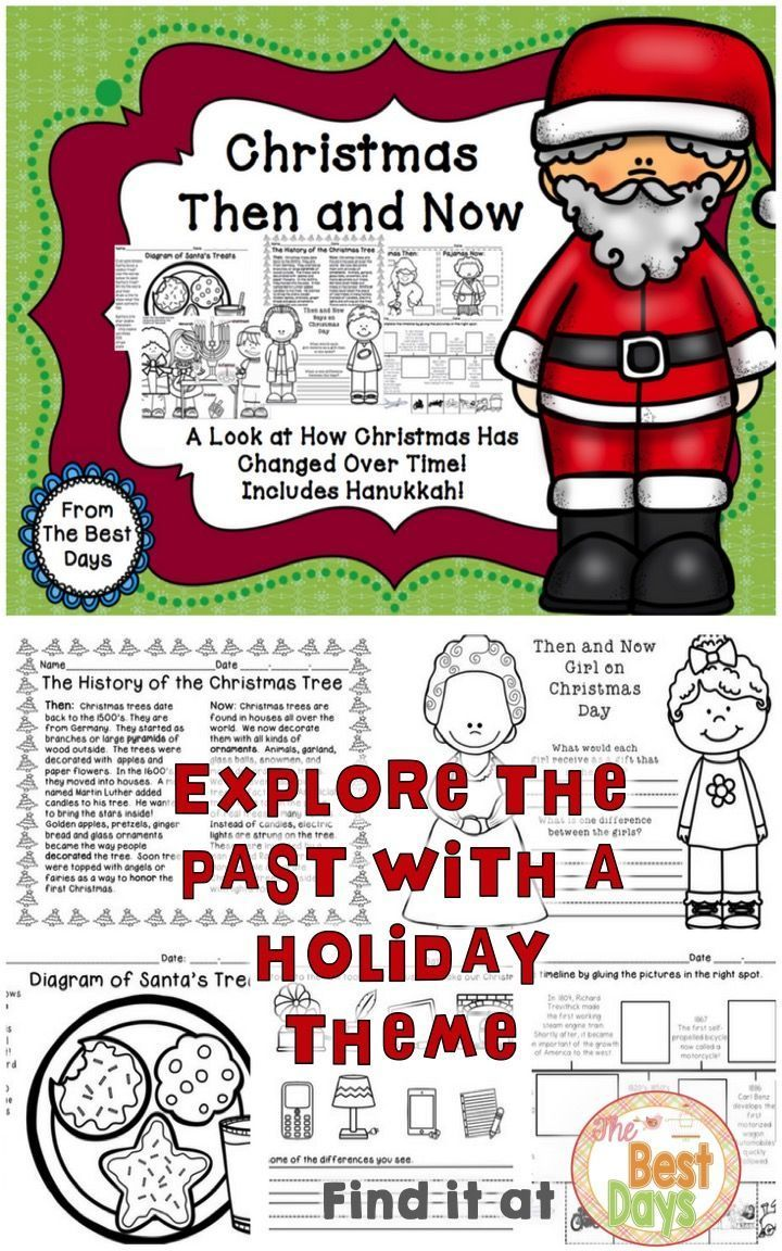 Are you looking for a great way to teach the Social Studies Standard for Then and Now?  Here it is!  Learn all about how the Holiday traditions looked when they first started and how they look now!  Plus, there are some fun activities included too-timelines, Venn Diagrams, and a chance to make a Then and Now Christmas ornament!  Travel now to purchase it at The Best Days!