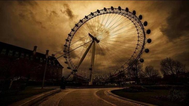 London Eye - a gigantesca roda gigante próxima ao Rio Tâmisa, Londres, Inglaterra