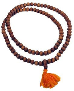 Us Catholics aren't the only ones with rosaries.  This is a Buddhist Mala (or Juzu in Japan).  I have several that were given to me by Buddhist friends.