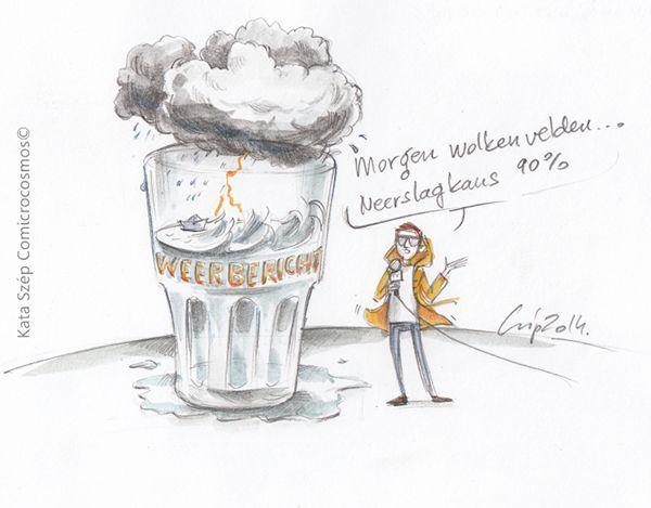 (Het is) een storm in een glas water (=  ophef maken over niets) E: a storm in a teacup / a tempest in a teacup / a tempest in a teapot (US)  F: une tempête dans un verre d'eau D: ein Sturm im Wasserglas I: una tempesta in un bicchiere d'acqua S: Una tormenta en un vaso de agua P: tempestade em copo de água / Uma tempestade num copo de água.