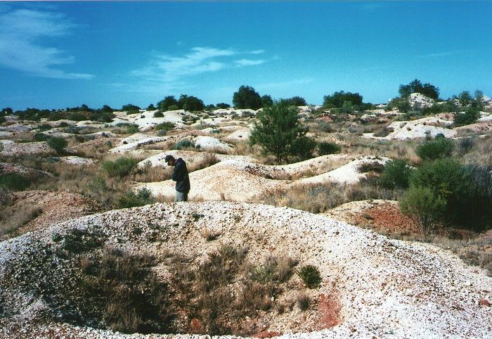 The pockmarked landscape of #Opal Fossicking area near #WhiteCliffs, #NewSouthWales!