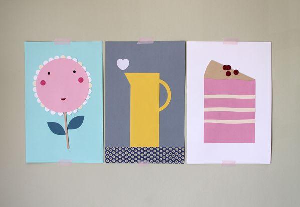 giochi di carta: Illustrazioni con cartoncino colorato Illustrations with colored cardboard
