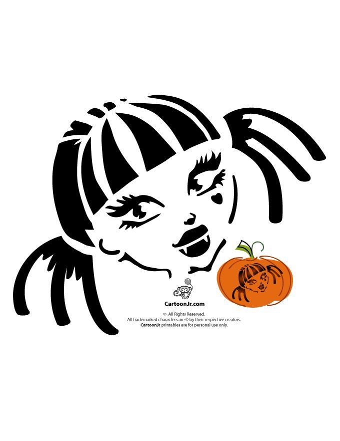 Monster High Pumpkin Carving Patterns Draculaura Monster