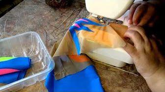 обработка швов сеткой -фатином - YouTube
