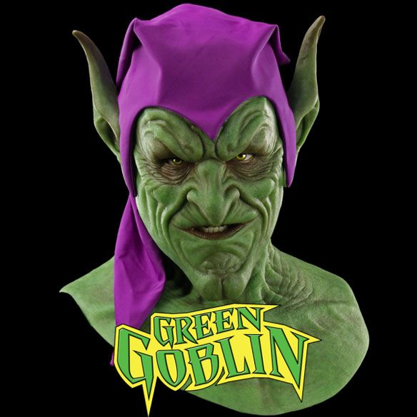 "Marvel Green Goblin Silicone Mask - for your best ""said no one ever"" couples roleplay"