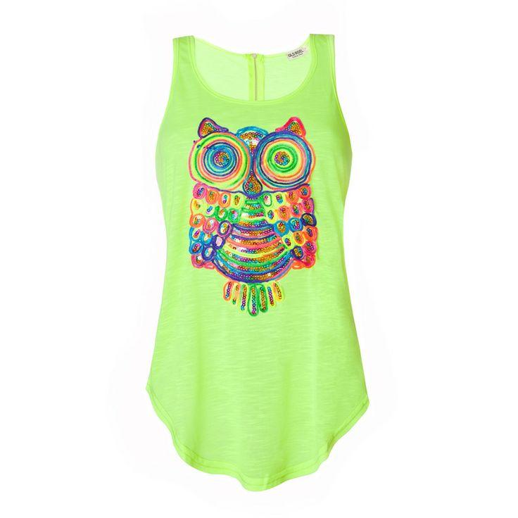 Camiseta mujer estampada flúor primavera verano 2014 www.oldridel.com