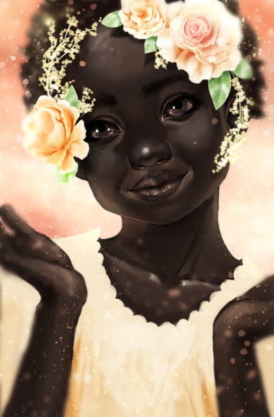 OMG! This is Beautiful!Blackart, Skin Care, Beautiful, Afro Art, Baby Girls, Nature Hair Art, Black Art, Flower Girls, Black Girls